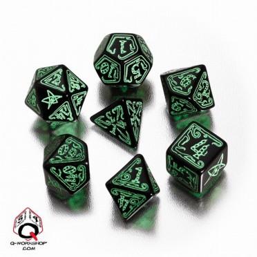 Set de Dés Appel de Cthulhu Noir et Vert