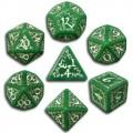 Set de Dés Elfiques Verts et Blancs 0
