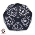 D20 Black & white Card Game Level Counter 0