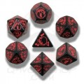 Set de Dés Dragon Noir et Rouge 0
