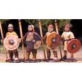 Levées Anglo-Saxonnes avec lances et boucliers 0
