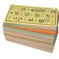 Pack 125 grilles / cartons souples de loto jaunes 0