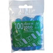 100 Pions 18 mm marquage Loto Bleu