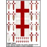 Transferts et bannières de Templiers pour la boîte de bande Milites Christi