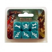 Boite de Rum & Bones - Wellsport Brotherhood Dice Set verts