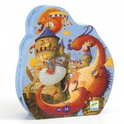 Puzzle silhouette - Vaillant et le dragon