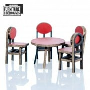 Shopping Mall: Food Court Chairs and Tables