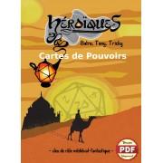 Héroïques ! Cartes de Pouvoirs- Version PDF