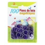 100 Pions de Loto Magnétiques Violet
