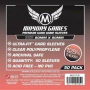 Card Game Sleeves - Medium Square Premium 80x80mm - 50p