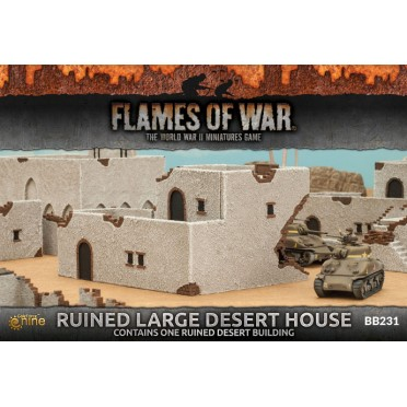 Buy Ruined Large Desert House - Board Game - Battlefront Miniatures