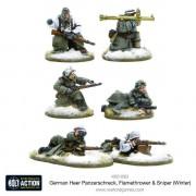 Bolt Action - German Heer Panzerschreck, Flamethrower & Sniper Teams (Winter)