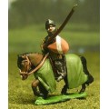 Late Medieval: Knights, 1360-1400AD in Studded Surcoat & Assorted Helms with Lance & Shield, on Barded Horse 0
