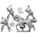 Mounted knights with axes & maces 0