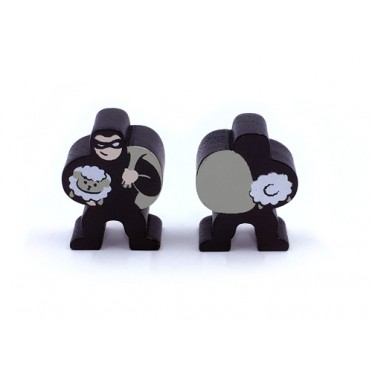 Catan - Large 30 mm 2-Sided Robber