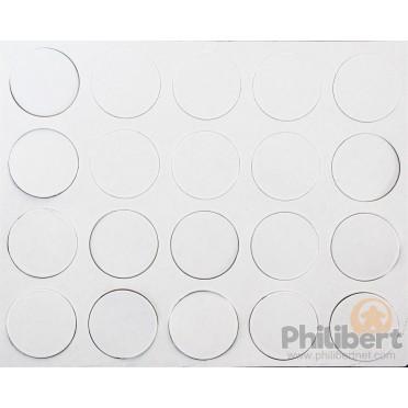 Aimants Adhésifs 25 mm de Diamètre (100)