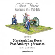 Napoleonic Late French Foot Artillery 6-pdr cannon