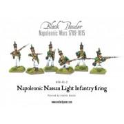 Napoleonic Nassau Light Infantry firing
