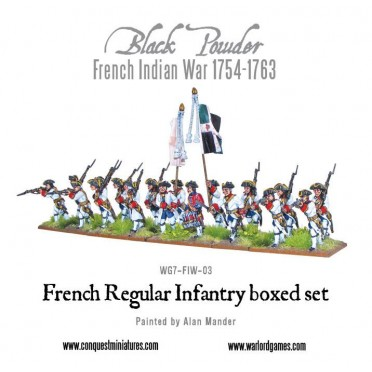 French Indian War 1754-1763: French Regular Infantry