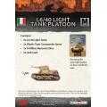 L6/40 Light Tank Platoon 1