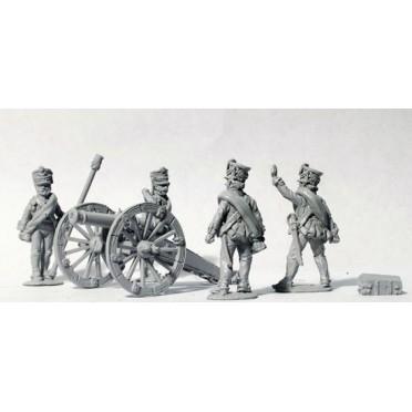 Foot Artillery firing 6pdr (1809 Kiwer)