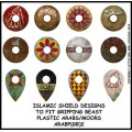 Islamic shield design to fit Gripping Beast plastic Arab miniatures. 0