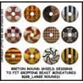 Breton Round Shield Designs 1 (Gripping Beast) 0