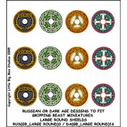 Russian or Dark Age Large Round Shield designs 3 (Gripping Beast)