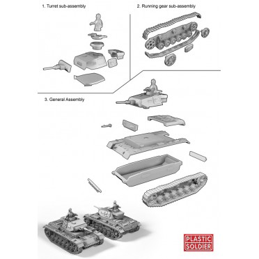 Buy 15mm WW2 German Panzer III F,G,H Tank - Board Game - Plastic Soldier  Company