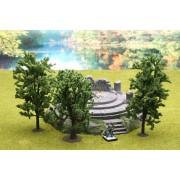 Ziterdes: Fable forest Model Deciduous Trees (3pcs.)