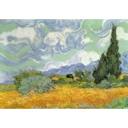 Micro Puzzle Bois - 40 Pièces - Wheat Field with Cypresses