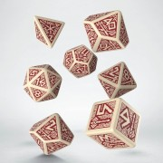 Dwarven Beige & Burgundy Dice Set