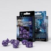 Classic RPG Dice Set-  Lavender & White