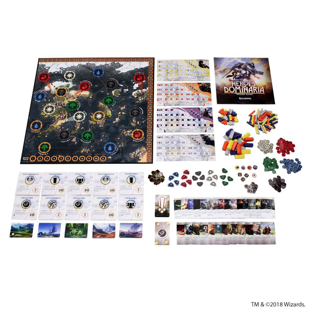 Magic Heroes of Dominaria Board Game Premium Edition The Gathering Englisch