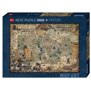 Puzzle - Map Art Pirate World- 2000 Pièces