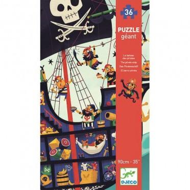 Puzzle Geant: Le Bateau des Pirates – 36 Pièces