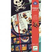 Puzzle Geant : Le Bateau des Pirates – 36 Pièces