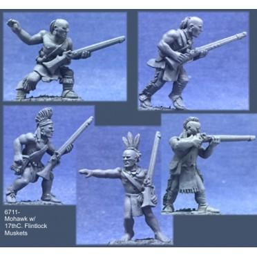 Mohawk Warriors with 17th C. Flintlock Muskets