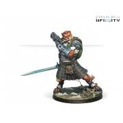 Infinity - Mercenaries - Terlach McMurrough (2 Chain Rifle, Templar CCW)