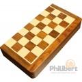 Jeu d'échecs pliant magnétique marqueté, 30 cm - Bois Laqué 1