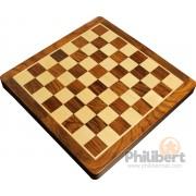 Jeu d'échecs pliant magnétique marqueté, 25 cm - Bois Laqué