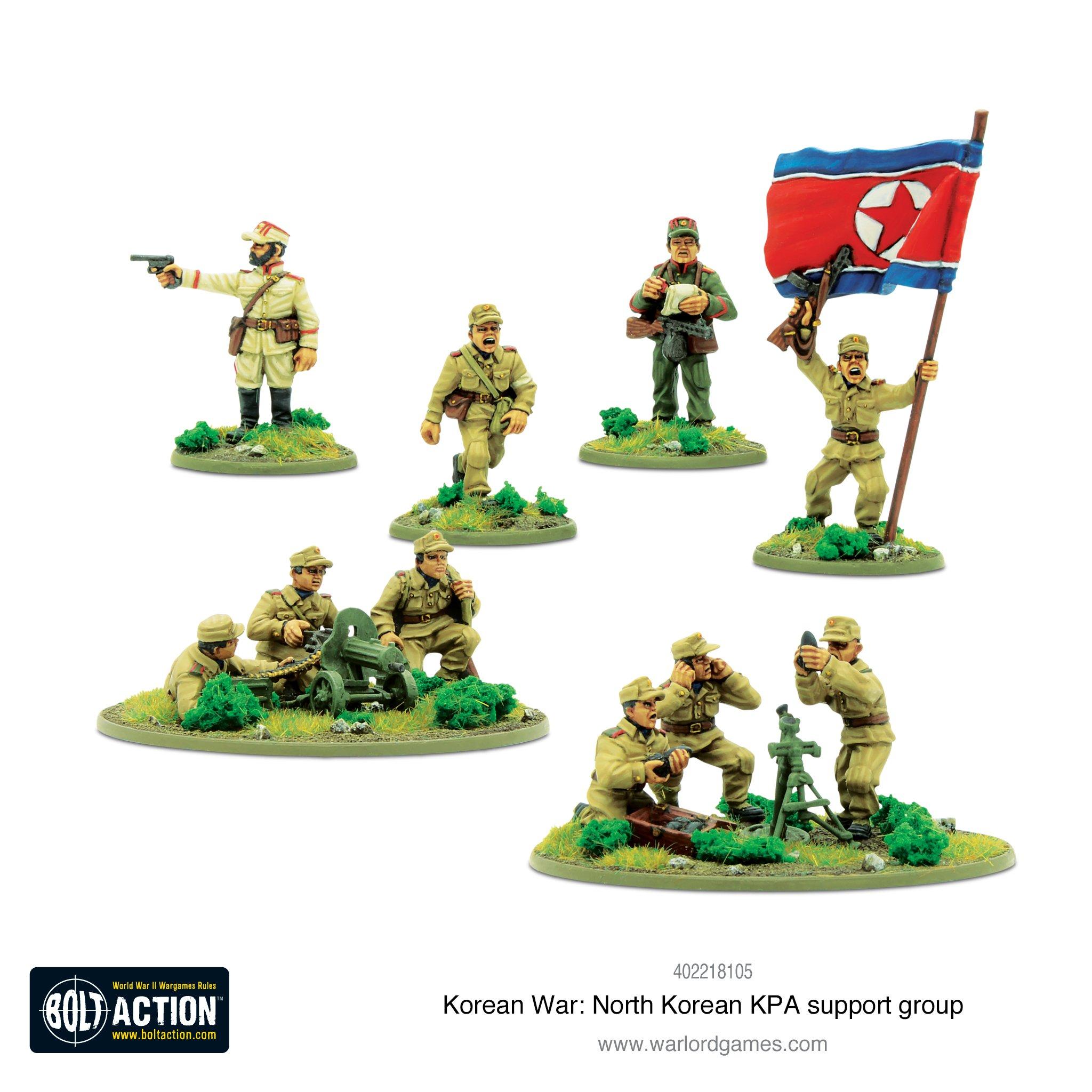 Bolt Action: Korean War - North Korean KPA Support Group