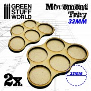 MDF Movement Trays 5 x 32mm
