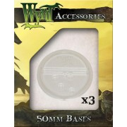 Wyrdscape Bases - 3x Clear Bases 50mm