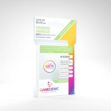 Gamegenic : 50 Matte Sleeves 59x91 Standard