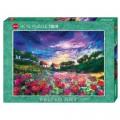 Puzzle - Sundown Poppies - Felted Art -1000 pièces 0