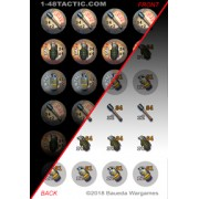 1-48 Tactic - 24 Grenade Markers Punchboard