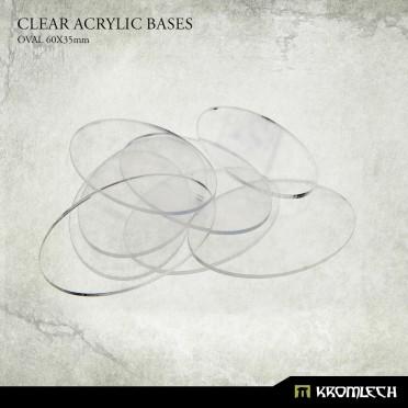 Clear Acrylic Bases: Oval 60x35mm (20)
