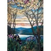 Puzzle -Tiffany  - Magnolias et Iris - 1000 pièces