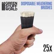 25x Disposable Weathering Brushes